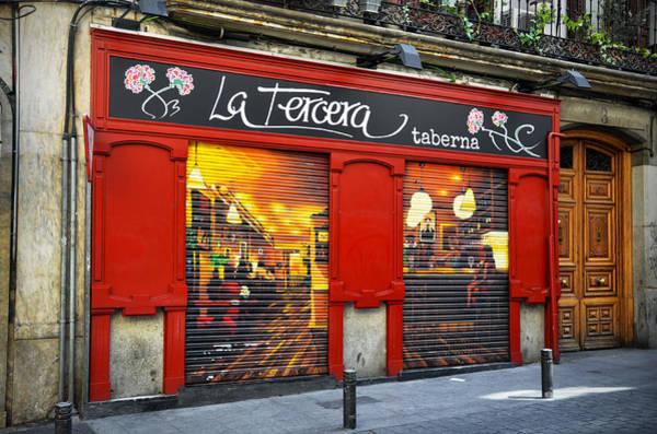 Photograph - La Tercera Tavern In Madrid by RicardMN Photography