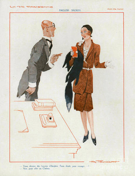 Nineteen-thirties Wall Art - Drawing - La Vie Parisienne  1930 1930s France Cc by The Advertising Archives
