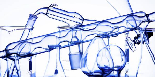 Medicinal Photograph - Lab Glassware by Wladimir Bulgar