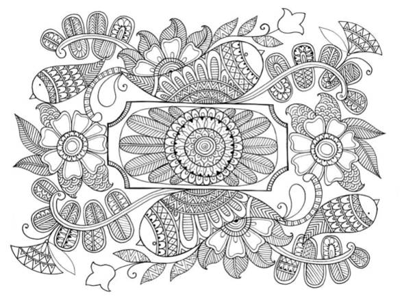 Wall Art - Drawing - Label Pattern 1 by MGL Meiklejohn Graphics Licensing