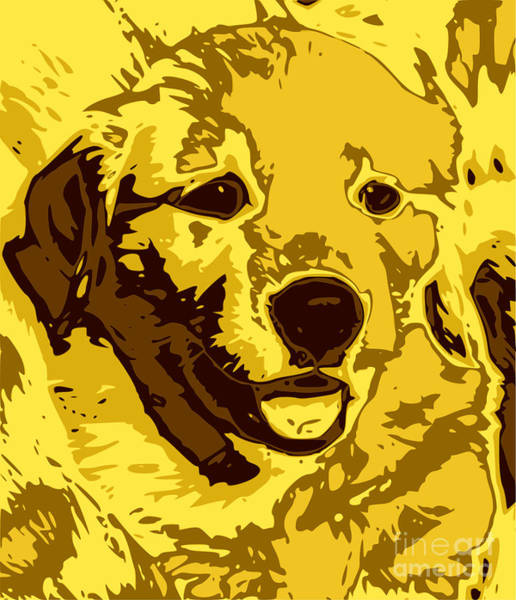 Golden Retriever Digital Art - Labrador by Chris Butler