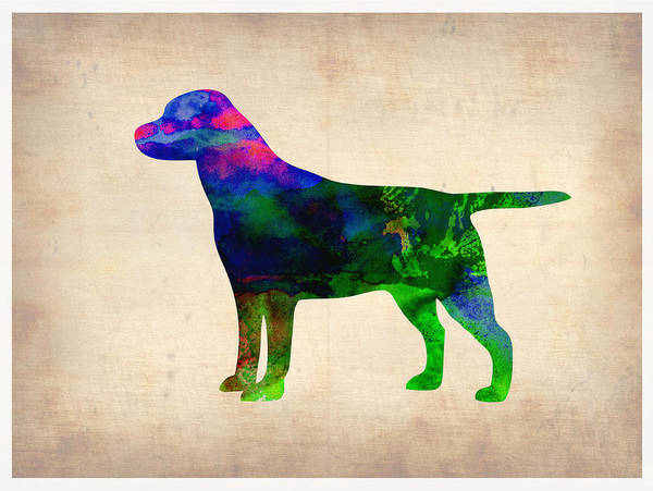 Wall Art - Painting - Labrador Retriever Watercolor 2 by Naxart Studio
