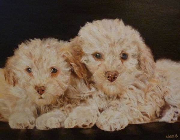 Snuggle Painting - Labradorable by Cherise Foster