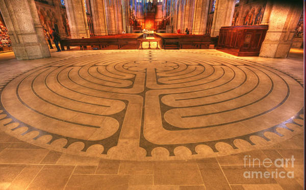 Grace Cathedral Photograph - Labyrinth by David Bearden
