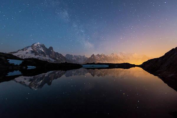 Chamonix Wall Art - Photograph - Lac Chesery At Night - Alpes by Renan Gicquel
