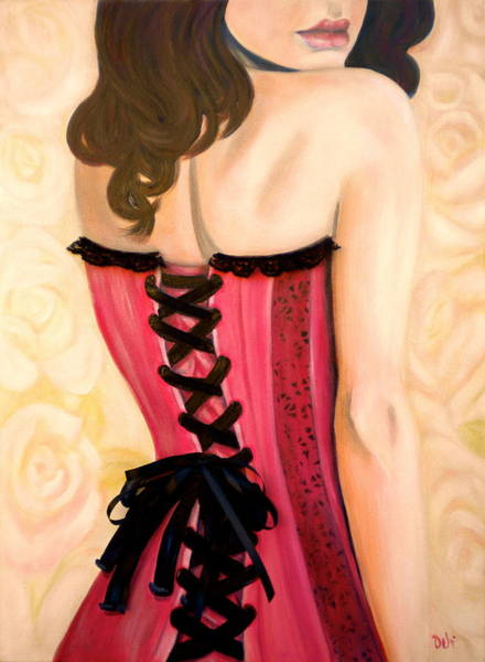 Curl Up Painting - Lacey by Debi Starr