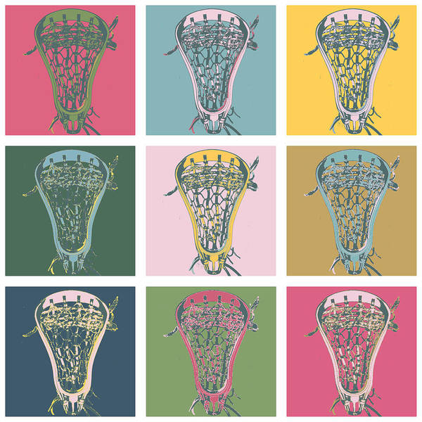 Lax Digital Art - Lacrosse Marylin Blue by YouGotThat