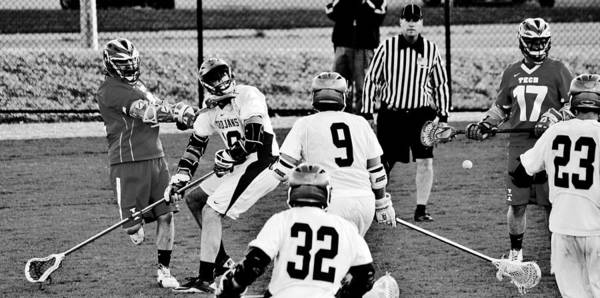 Lax Photograph - Lacrosse - Stick To The Face by Benjamin Yeager