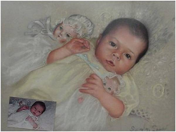 Wall Art - Painting - Lacy Baby by Saundra Bolen Samuel