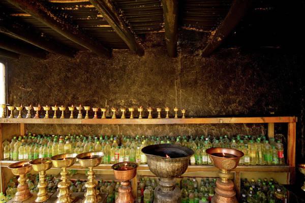 Wall Art - Photograph - Ladakh, India  Yak Butter Lamps by Jaina Mishra