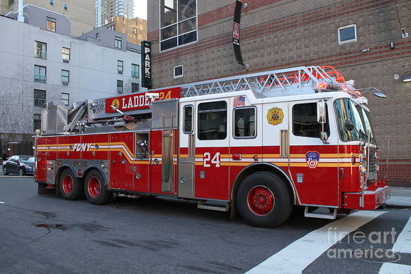 Photograph - Ladder Company 24 Fdny by Steven Spak