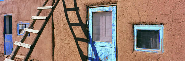 Pueblo Photograph - Ladder Leaning Against A House, Taos by Panoramic Images