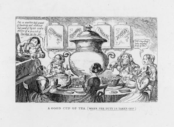 Duty Drawing - Ladies Gather Round A Large  Urn Of Tea by Mary Evans Picture Library
