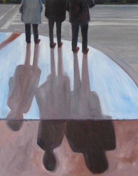 Wall Art - Painting - Ladies In Red Shoes by Nancy Merkle
