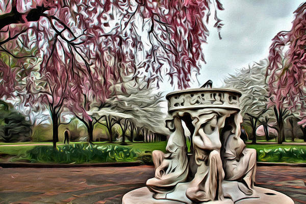 Photograph - Ladies In The Blossoms by Alice Gipson