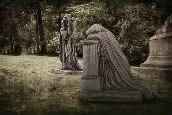 Graveyard Wall Art - Photograph - Ladies Of Sorrow by Tom Mc Nemar