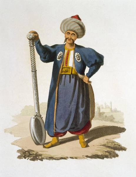 Empire Drawing - Ladle Bearer, 1818 by English School