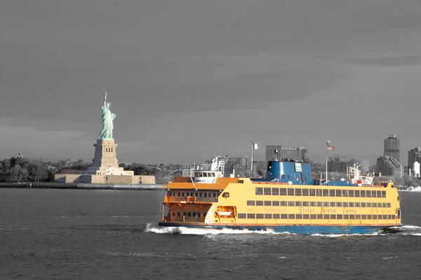 Photograph - Lady And The Ferry by Alice Gipson
