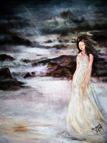 Rain Song Painting - The Siren Of The Sea by Kemberly Duckett