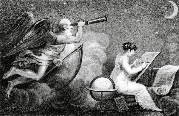 Father Sky Wall Art - Photograph - Lady Astronomer And Time by Royal Astronomical Society/science Photo Library