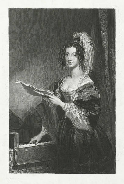 Wall Art - Drawing - Lady Before A Piano, Johannes De Mare, Charles Robert Leslie by Johannes De Mare And Charles Robert Leslie