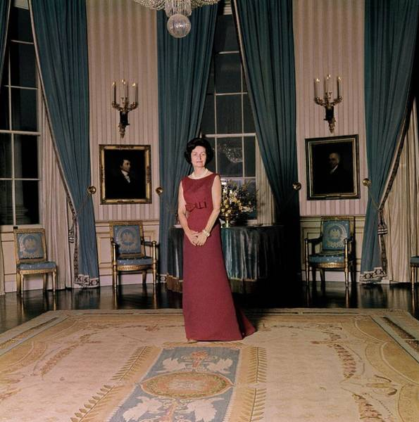 Official Residence Photograph - Lady Bird Johnson In The White House by Horst P. Horst