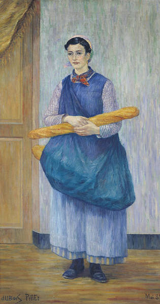 Apron Wall Art - Photograph - Lady Carrying Bread, 1889 Oil On Canvas by Albert Dubois-Pillet