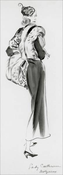 Vogue Digital Art - Lady Castlerosse Wearing Molyneux by Rene Bouet-Willaumez
