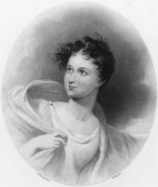 Wall Art - Drawing - Lady Charlotte Bacon  A Friend by Mary Evans Picture Library