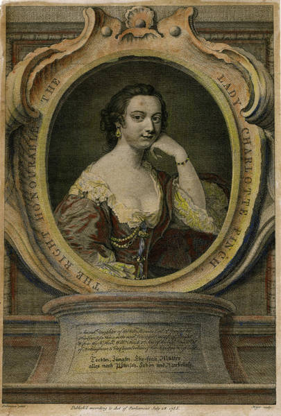 Wall Art - Drawing - Lady Charlotte Finch (nee  Fermor) by Mary Evans Picture Library