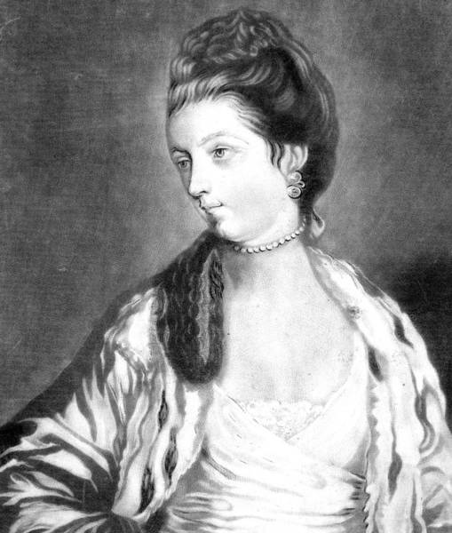 Wall Art - Drawing - Lady Charlotte Johnstone Nee Montagu by Mary Evans Picture Library