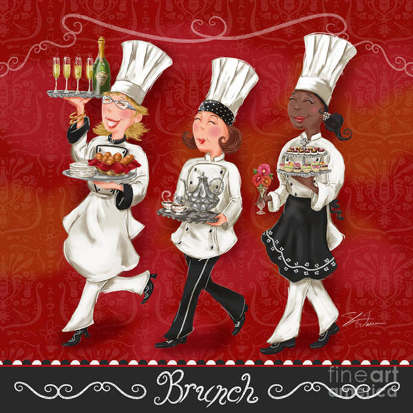 Wall Art - Mixed Media - Lady Chefs - Brunch by Shari Warren