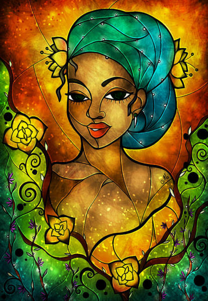 Mixed Media - Lady Creole by Mandie Manzano