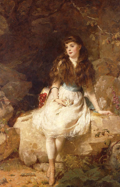 Posture Painting - Lady Edith Amelia Ward Daughter Of The First Earl Of Dudley by George Elgar Hicks