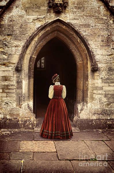 Wall Art - Photograph - Lady Entering An Old Church by Jill Battaglia
