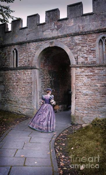 Wall Art - Photograph - Lady Entering Archway by Jill Battaglia