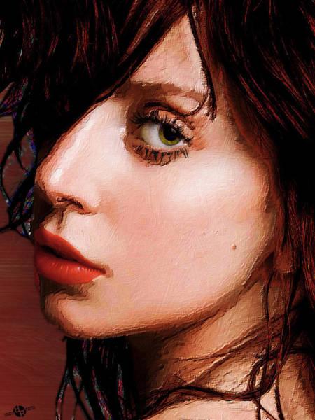 Painting - Lady Gaga Close Up by Tony Rubino