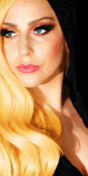 Painting - Lady Gaga Fashion 1 by Tony Rubino