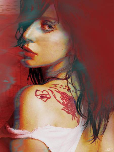 Painting - Lady Gaga Impressionist by Tony Rubino
