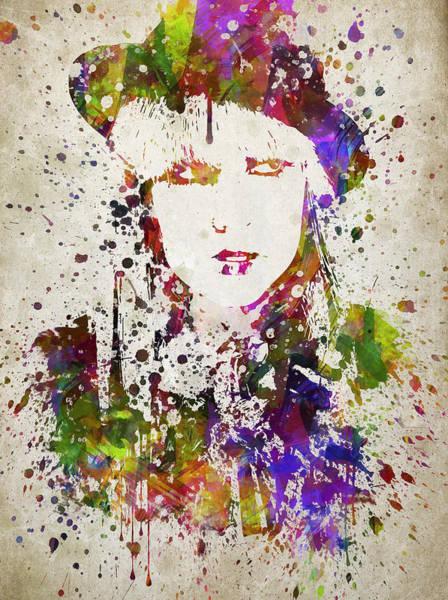 Wall Art - Digital Art - Lady Gaga In Color by Aged Pixel