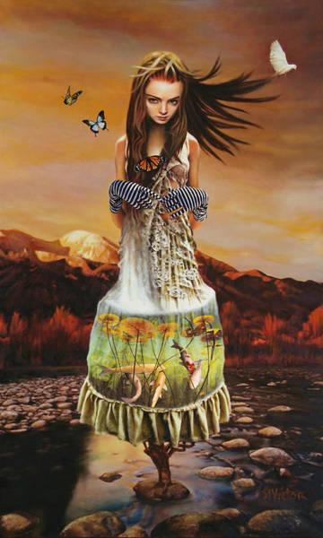 Wall Art - Mixed Media - Lady Gaia Eyes by Vic Lee