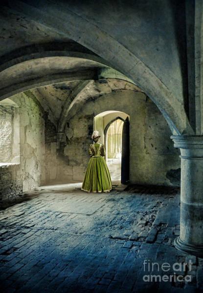 Wall Art - Photograph - Lady In Abbey Room by Jill Battaglia