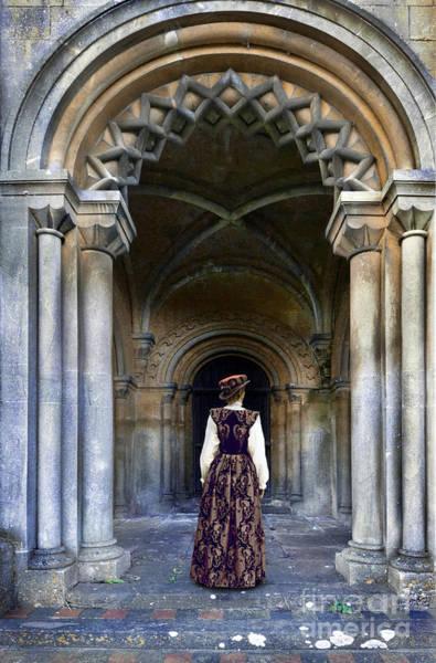 Wall Art - Photograph - Lady In Archway by Jill Battaglia
