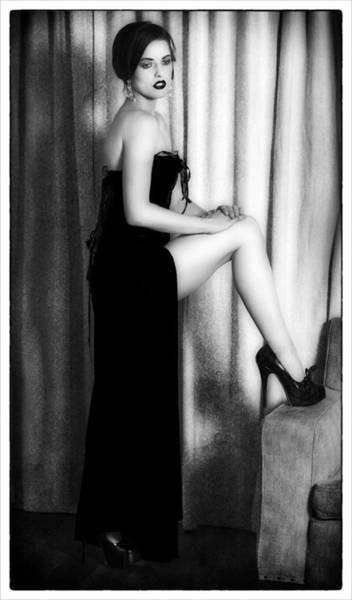 Photograph - Lady In Black by Kim Andelkovic