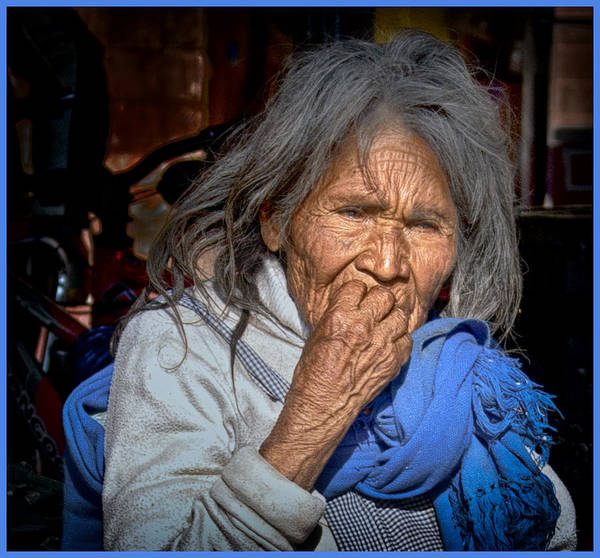 Photograph - Lady In Blue by Barry Weiss