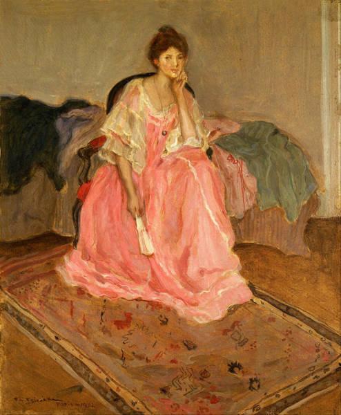 Boudoir Digital Art - Lady In Pink by Carl Frieseke