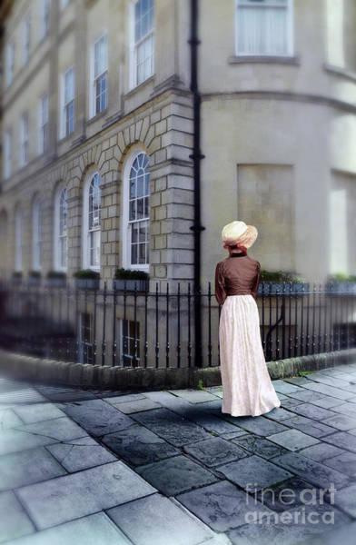 Wall Art - Photograph - Lady In Regency Clothing On Sidewalk by Jill Battaglia