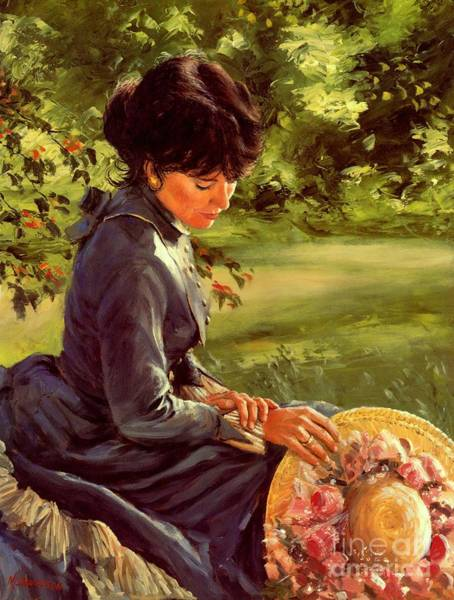 Victorian Garden Wall Art - Painting - Lady Katherine by Michael Swanson