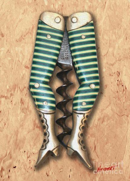 Still Life Mixed Media - Lady Legs Corkscrew Painting by Jon Neidert