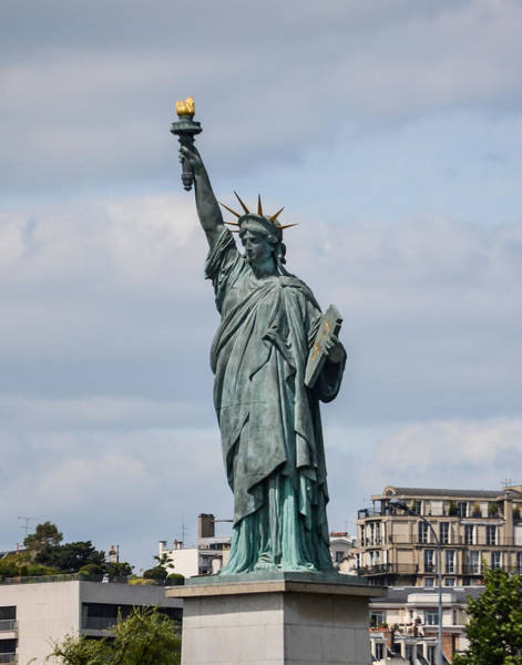 Photograph - Lady Liberty In Paris by Allen Sheffield